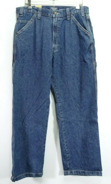 New Signature Levi Mens Relaxed Carpenter Work Cotton Denim Jeans 36 x 32