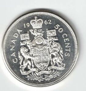 CANADA-1962-50-CENT-HALF-DOLLAR-QUEEN-ELIZABETH-CANADIAN-800-SILVER-COIN