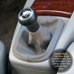 Se-adapta-a-Volkswagen-Vw-Passat-B5-1997-2005-Gear-Polaina-Real-Cuero-Gris-y-puntada