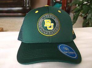 check out e2af8 513d0 Image is loading NEW-Baylor-University-Green-Mesh-Snapback-Baseball-Cap-