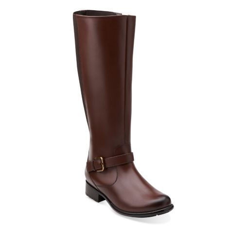 comprare sconti Clarks Plaza Pilot Donna   Marrone Leather stivali    26104582  buona qualità
