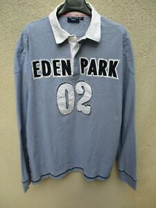 Polo-EDEN-PARK-Team-rugby-02-collection-bleu-clair-manches-longues-shirt-XL