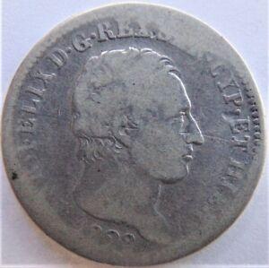 1828-ITALIAN-STATES-SARDINIA-Carlo-Felice-1-Lira-grading-VERY-GOOD