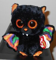 TY Beanie Boos - SCAREM the Black Bat Glitter Eyes Regular Size - 6 inch Toys