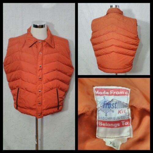Frostline 1980's Puffy Down Vest Men's XL Burnt Or