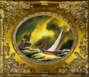 Painting-Oil-Painting-Picture-Oil-Frame-Pictures-Sea-Ships-Oil-Painting-G02131