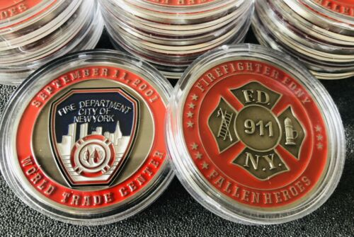 FDNY Commemorative 911 Coin 2mm Challenge Coin Fire Department New York