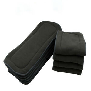Washable-Natural-Nature-Bamboo-Charcoal-Cloth-Baby-Diaper-5-Layers-Reusable