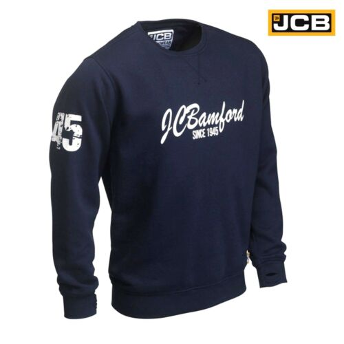 JCB Bamford Ltd Edition Navy Blue Sweatshirt Sweater Jumper Work Top Pullover Sz