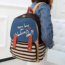 Cute Vintage Canvas Satchel Backpack Rucksack Shoulder Leisure Travel School Bag