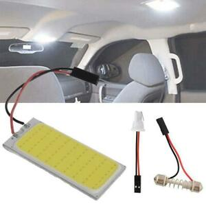 2-Piezas-Xenon-HID-Blanco-36-COB-LED-Bombilla-Mapa-Cupula-Interior-del-Coche-Panel-Lampara-12V