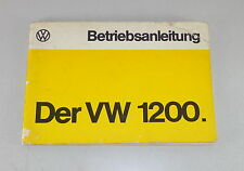 Betriebsanleitung VW Käfer 1200 Stand 08/1974
