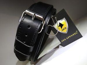 Collier de chien, collier de dressage en cuir noir Ak9 037
