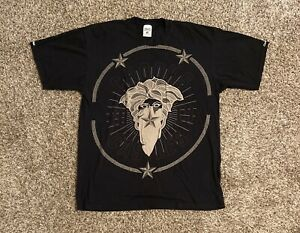 Crooks-And-Castles-Mens-S-S-Graphic-T-Shirt-XL-Black-Medusa-Stars-Spell-Out-EUC