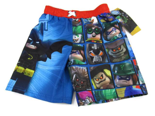 8ed96eca DC Comics Lego Batman Boys Size 5/6 Villans Joker Bane Swim Trunks