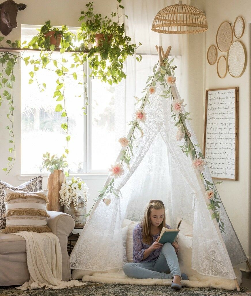 Huge Lace Teepee Teepee Teepee Ladies Kids Tent Indoor Outdoor Wedding Party Garden Decoration 8e355a