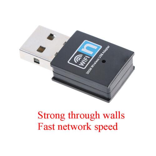 300Mbps Wireless USB Wi-fi Wlan Adapter 802.11 b//g//n Network LAN Dongle In rl