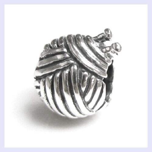 Sterling Silver Laine à Tricoter Yarn Ball Hobby Bead for European Charm Bracelet