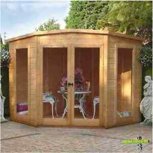 Incredible Details About Corner Summerhouse Tongue Groove Garden Patio Log Cabin Shed Building Home 7X7 Best Image Libraries Barepthycampuscom