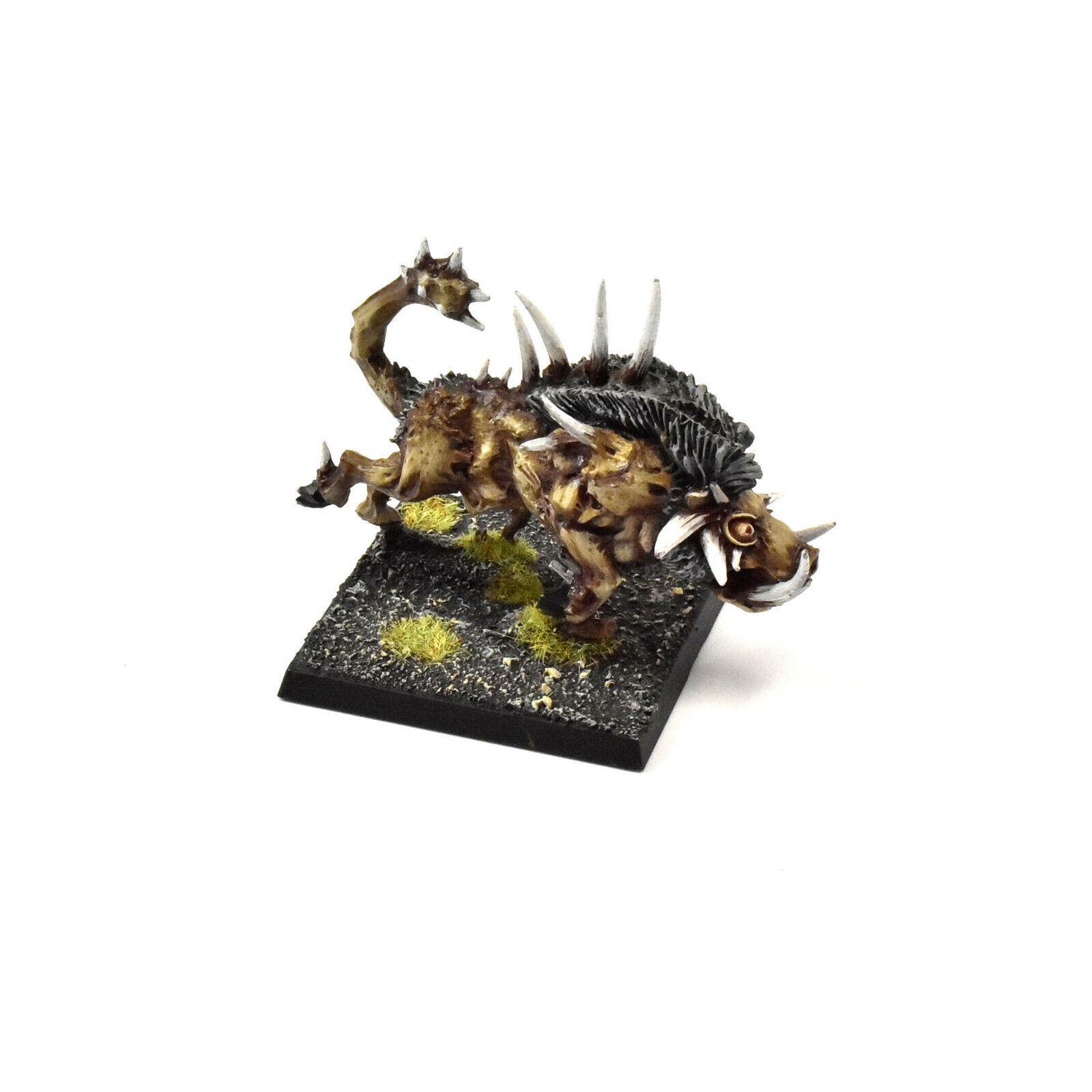 BEASTS OF CHAOS razorgor  3 PRO PAINTED Warhammer Fantasy BeastSie METAL