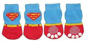 Non-Slip-Dog-Socks-Super-Man-Small-Medium-Large-amp-XL-3-5kg-to-30kg