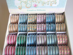 1-REEL-DOVECRAFT-FORGET-ME-NOT-RIBBON-choice-of-design-GARDEN-FLORAL-SPRING