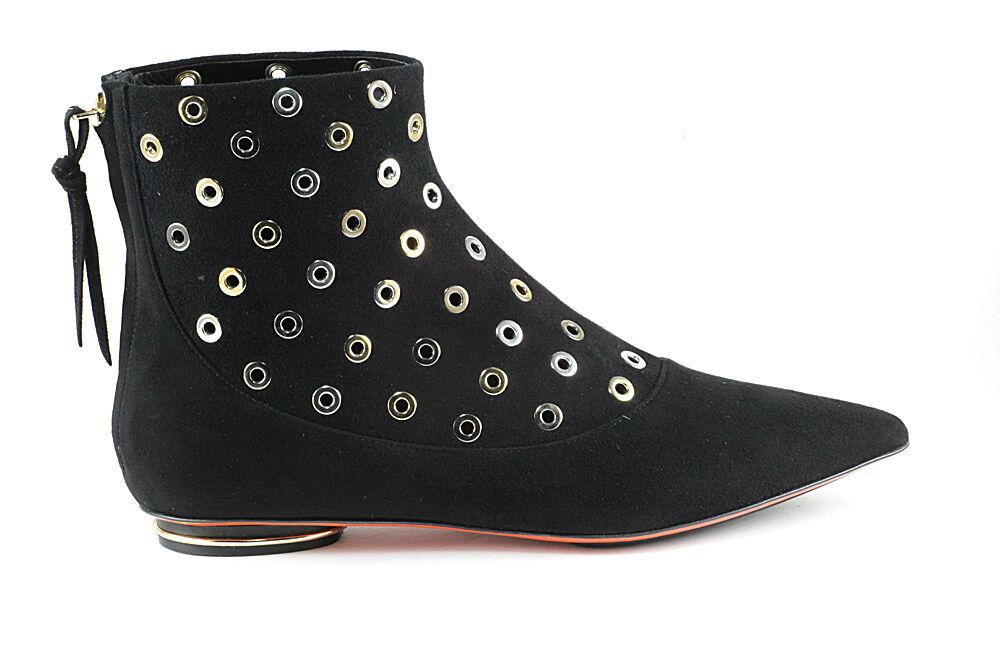 Authentic Baldinini Suede Italain Boots Black Sizes 6,7,10,11 New
