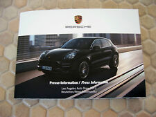 PORSCHE 918 MACAN 911 TURBO LOS ANGELES PRESS KIT FLASH DRIVE AND BROCHURE 2013