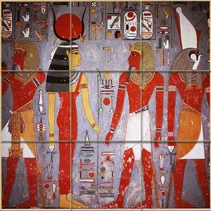 18 x 18 Art Colorful Ancient Egypt Ceramic Mural Backsplash Bath ...