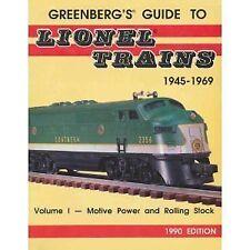 Greenberg's Guide to Lionel Trains, 1945-1969 Volume I Model Railroads