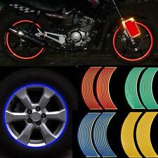 Car  16pcs Rim Decal Bike Wheel Stripe Sticker 10//12/'/' Reflective Motor Tape PSB