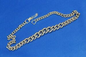 Lovely-16-034-40cm-Gold-Tone-Chunky-Cuban-Chain-Graduated-Link-Necklace-25-1-gram