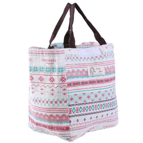 Portable Insulated Thermal Cooler Bento Lunch Box Carry Tote Storage Bag 6T