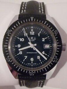 Rar: Luxus Vintage RE Watch Sorna Breitling Diver Taucher Swiss Made -70er -TOP