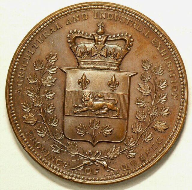 Quebec Agricultural & Industrial Exhibition Medal Bronze  #5147