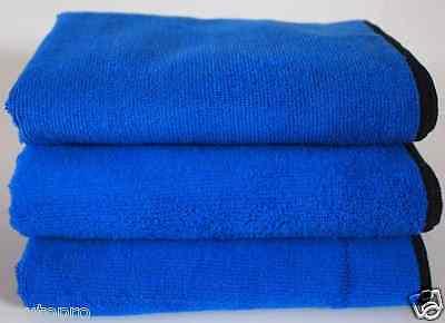 10x Blue Microfibre Cloth Auto/Car Waxing - PTFE Polish Detailing 400x400mm