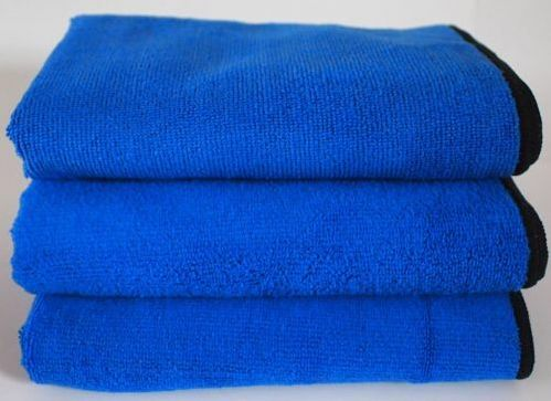 10x Blue Microfibre Cloth Auto/Car Waxing - PTFE Polish Detailing 400x400mm