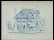 BRUNOY, VILLA LES HERISSONS -1922- PLANCHES ARCHITECTURE- PRONIER