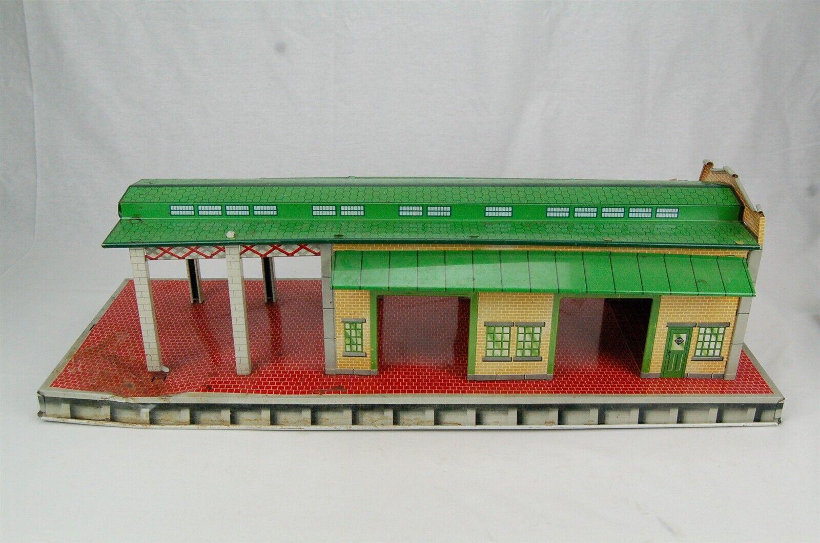 Marx Freight Terminal Tin Litho Train Station Toy Building Vintage 1950s