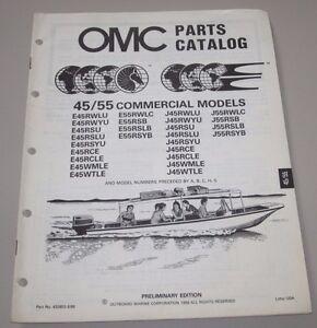 55 Commercial Models Omc Ersatzteilkatalog September 1988 Service & Reparaturanleitungen Omc Parts Catalog 45