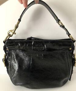 d6e14feef3 Image is loading Authentic-Coach-Black-Patent-Leather-Purse-Shoulder-Bag-