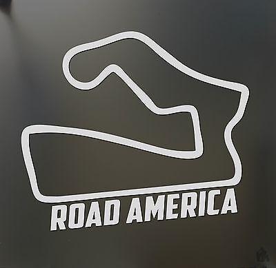 Road america sticker Funny JDM BMW honda race car track window decal