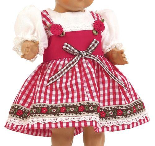 Schildkröt bambole abbigliamento Tirolese Rosso Bianco A Quadri Per Bambole 56 cm 56550