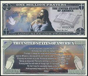 Lot-of-25-Bills-JESUS-SERENITY-PRAYER-MILLION-DOLLAR-NOVELTY-BILL