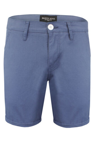 Homme Brave Soul Coton Sergé Chino Style Summer Short SS18 Neuf Tailles S-XL