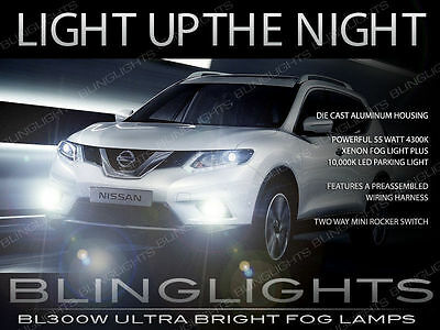 Xenon Halogen Fog Lamp Driving Light Kit w/ Harness for 2014 2015 Nissan X-Trail