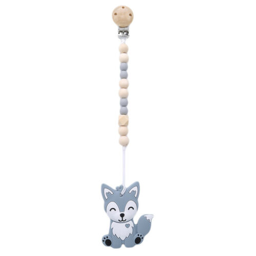 Baby Teether Clip Teething Appease Fox Toy Toddlers Soft Silicone Baby Gift S