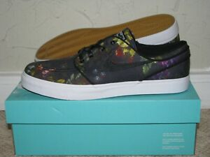 584935e7279ef Nike SB Zoom Stefan Janoski Canvas Floral Black Mens Size 11.5 DS ...