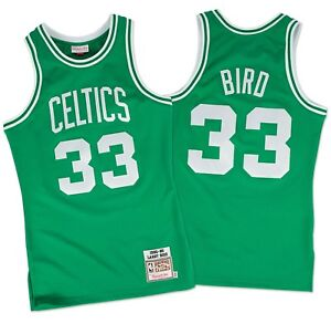 newest collection 9ff26 56909 Details about Larry Bird Boston Celtics Mitchell & Ness Authentic 1985-86  Green NBA Jersey