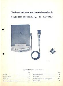 Gut Ausgebildete Telefunken Service Manual Für Diktiergerät Traveller VerrüCkter Preis Anleitungen & Schaltbilder